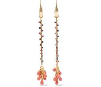 Goldfarbene Ohrringe Mit Perlen