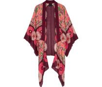 Poppy Buds bedruckter Kimono aus einer Baumwoll-Seidenmischung