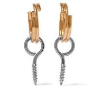 Ohrringe Mit Silber- Und Goldauflage