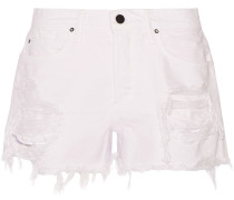 Romp Jeansshorts in Distressed-Optik
