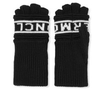 Fingerlose Handschuhe Aus Wolle Mit Intarsienmotiv -
