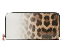 Panettone Portemonnaie Im Europäischen Stil Aus Leder Mit Leopardenprint Und Farbverlauf -