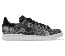 Stan Smith Sneakers Aus Shell Mit Paisley-muster - Schwarz