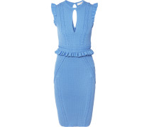 Majorca Kleid Aus Pointelle-strick Mit Rüschen -