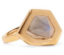 Petra Ring Mit Gold-vermeil Und Labradorit