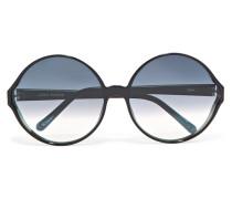 Sonnenbrille Mit Rundem Rahmen Aus Azetat -
