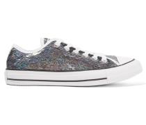 Chuck Taylor All Star Sneakers Aus Paillettenbesetztem Canvas - Stahlgrau