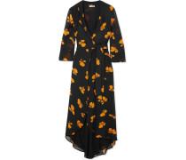 Fairfax Wickelkleid aus Chiffon mit Floralem Print -