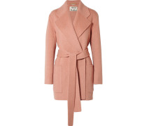 Anika Mantel aus einer Woll-kaschmirmischung mit Gürtel -