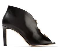 Lorna 85 Ankle Boots Aus Leder Mit Cut-outs Und Verzierung -