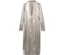 Kleid Aus Seidensatin In Metallic-optik -