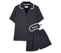 Never Sleeps Pyjama Aus Vorgewaschenem Satin -