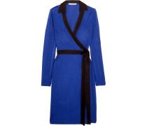 Jeannae Zweifarbiges Wickelkleid Aus Stretch-strick - Kobaltblau