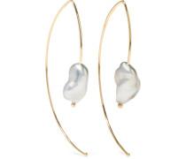 Open Marquis Ohrringe aus 14 Karat  mit Perlen