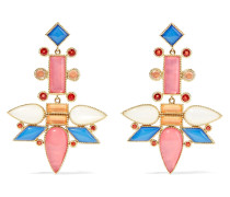 Cora Topsy-turvy Ohrringe aus 14 Karat  mit Mehreren Steinen