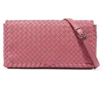 Schultertasche Aus Intrecciato-leder - Pink