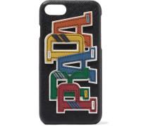 Iphone 7-hülle Aus Strukturiertem Leder Mit Applikation -