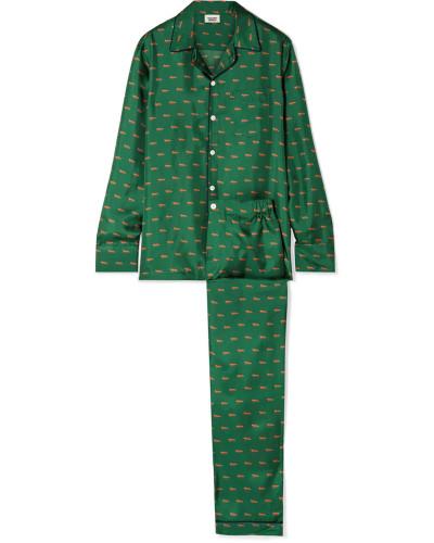 Henry Pyjama aus Bedrucktem Seiden-twill