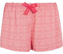 Bedruckte Pyjama-Shorts aus Voile