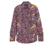 + Drake's Hemd aus bedrucktem Seiden-Twill