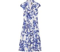 Jane Kleid aus Baumwollpopeline mit Blumendruck