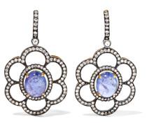 Ohrringe Aus 18 Karat Gold Mit Tansaniten Und Diamanten -