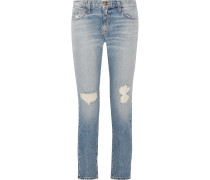 The Fling Tief Sitzende Boyfriend-jeans Mit Schmalem Bein In Distressed-optik -
