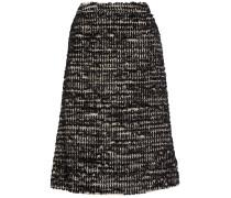 Midirock Aus Tweed In Metallic-optik - Schwarz