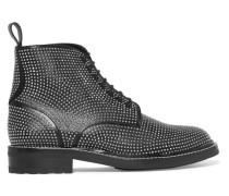 William Nietenverzierte Ankle Boots aus Leder -