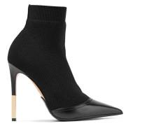 Aurore Sock Boots Aus Stretch-strick Mit Lederbesatz -
