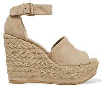 Sohogal Espadrille-wedges Aus Veloursleder -