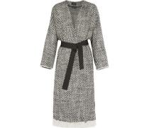 Iban Mantel aus Tweed aus einer Wollmischung mit Fransen