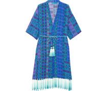 Bedruckter Kimono aus Crêpe de Chine aus Seide