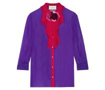 Zweifarbiges Hemd Aus Seiden-georgette - Lila