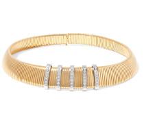 Gold- und silberfarbener Halsreif mit Kristallen