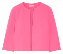 Verkürzte Jacke Aus Stretch-wolle - Pink