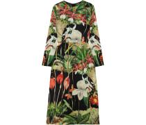 Bedrucktes Kleid Aus Seidensatin -