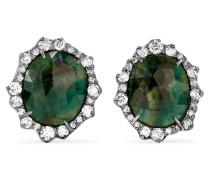 Ohrringe Aus 18 karat Geschwärztem  Mit Smaragden Und Diamanten