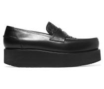 Loafers Aus Intrecciato-leder Mit Plateau -