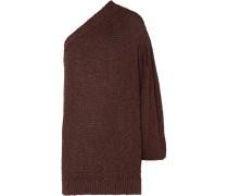 Gehäkelter Oversized-pullover mit Asymmetrischer Schulterpartie -