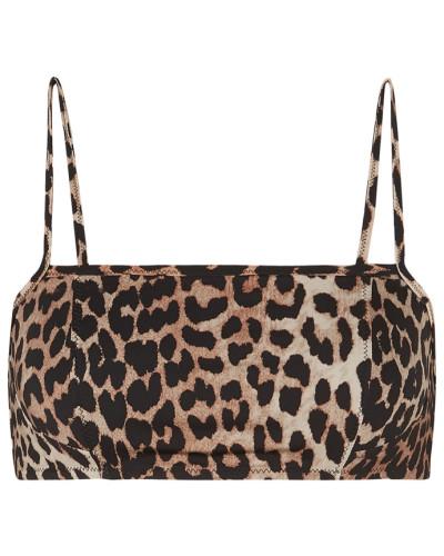 Bikini-oberteil mit Leopardenprint