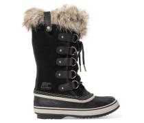 Joan Of Arctic Wasserfeste Stiefel aus Veloursleder und Gummi mit Faux Fur-besatz -