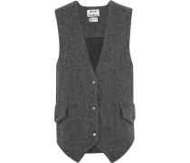 Oversized-weste Aus Woll-tweed - Grau