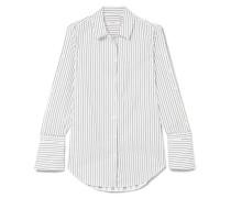 Rossi Hemd Aus Baumwollpopeline Mit Nadelstreifen -