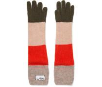 Gestreifte Handschuhe aus einer Wollmischung