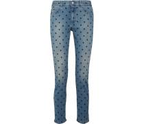 The Skinny Boyfriend-jeans Mit Stickereien -