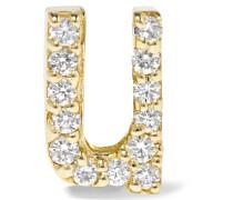 U Ohrring Aus 14 Karat  Mit Diamanten