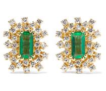 Ohrringe aus 18 karat  mit Smaragden und Diamanten