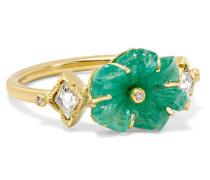 Rivera Flower Ring Aus 18 Karat  Mit Smaragd Und Diamanten