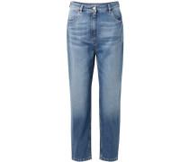 Verkürzte, Hoch Sitzende Jeans -